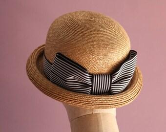 "Straw Bowler Hat ""Nicole"""