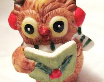 Vintage miniature Christmas Owl