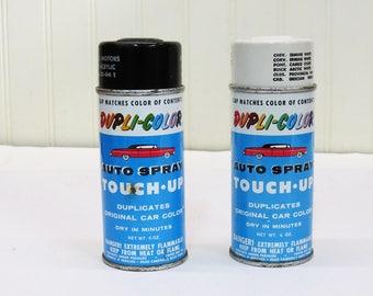 Vintage Dupli-Color Rattle Can - GM Spray Paint - Man Cave Decor - Old Car Graphics