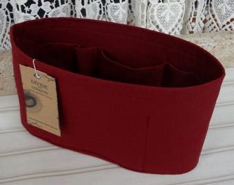 Burgundy / Purse ORGANIZER Insert SHAPER / Flexible or Stiff Bottom / STURDY / 5 Sizes Available /Check out my shop for more colors & styles