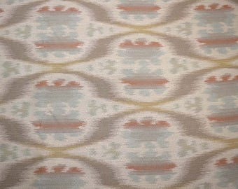 REMNANT Blue Orange Contemporary Upholstery Fabric 58 inches x 1.375 yards