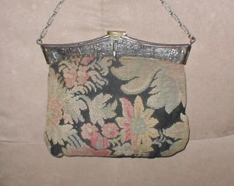 Antique Tapestry Evening Purse circa1910