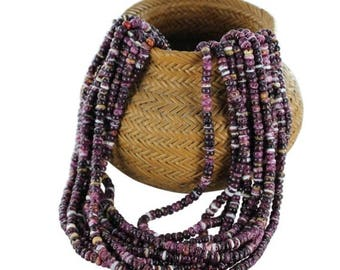 """Summer Sale : ) PURPLE SPINY OYSTER Beads Drums 4x3.5mm 16"""""""