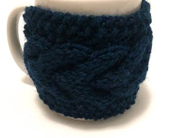 mug cozy knitted mug warmer teal cup cozy