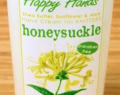 Scented Shea Butter Hand Lotion - Honeysuckle Floral Fragrance - Hand Cream for Knitters Happy Hands Knitting
