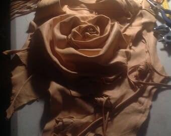 showdiva designs Asymmetrical Deerskin Leather Bag Notebook Purse LoNg FriNgE n Hand Sculpted Flowers