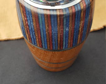 Modern Twist on a Classic Table Lighter, Cherry and Colorwood