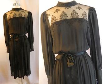 Black Evening Cocktail Dress - Virgo II - Size 10