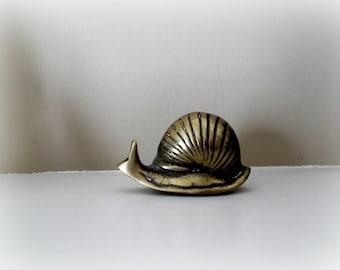 Brass Snail Figurine