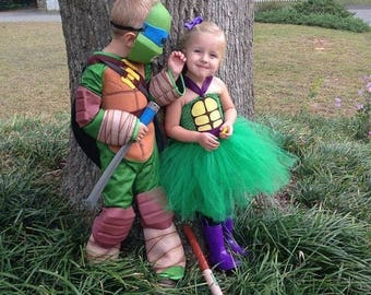 EARLYBIRD SALE Ninja Turtle Inspired Tutu Dress, Halloween Costume, Birthday Party dress, or Dress Up