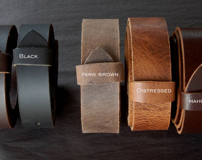"""Wedding Belt Leather Belts for Suits or Jeans Custom Cut Leather Belts 1.5"""" or 1.25"""" Wide for Men Ladies & Kids Custom Sizes Made to Measure"""