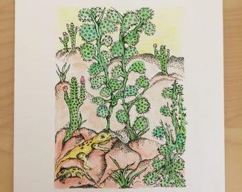 Desert Vibes Lizard Illustration