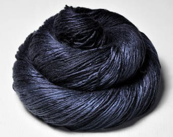 Drowning in the deep blue sea - Fleece Silk Lace Yarn - LIMITED EDITION - LSOH