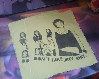 Foxfire movie back patch Don't Take Any Sh*t feminist art feminism 90s feminism street art by Rainbow Alternative punk patch