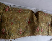 Reserved gor Sheridan Antique French Fabric Chinoiserie Cotton Panel Hummingbirds & Hibiscus Furnishings 3yd Decorative Textiles