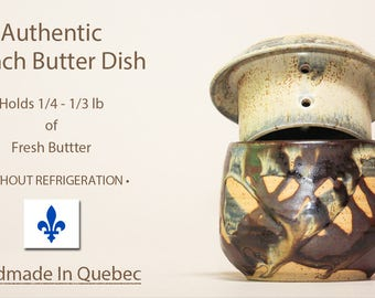 Handmade French Butter Dish, Butter Dish, Ceramic Butter Dish, French Butter Keeper, Beurrier Breton, Cloche de beurre