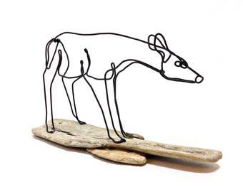 Fawn Wire Sculpture, Deer Wire Sculpture, Doe Wildlife Wire Sculpture, Minimal Wire Sculpture, Deer Art, 569807857