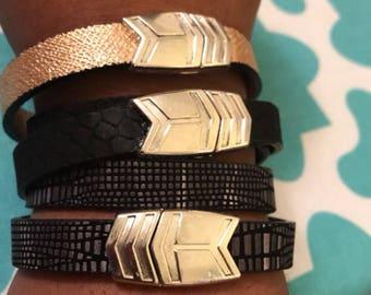 The Arrow Magnetic Leather Bracelets
