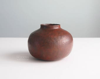 Ramon Ramirez Mexican Copper Hammered Arts Crafts Style Vase