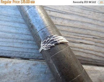 ON SALE Angel wing ring handmade in sterling silver