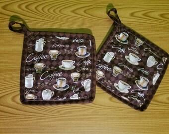 Coffee Set of 2 Potholders