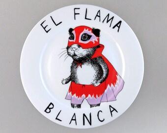 El Flama Blanca side plate