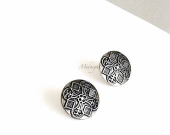 """Art Deco Inspired """"Florence"""" Earrings in Silver Metal w/ Stainless Steel Posts. Will Arrive in Gift Box, Branded Tag, and a nice Ribbon."""