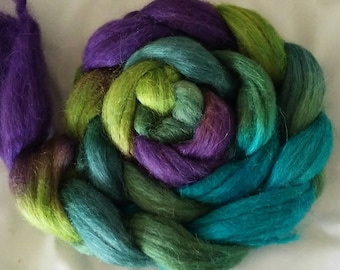 "Hand Dyed Alpaca/Silk 4 Oz. ""Peacock Moon Fusion"""