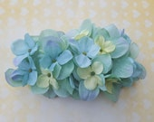 Signature seafoam green hydrangea hair comb or clip vintage rockabilly style wedding 40s 50s pin up bride hairflower haircomb boho