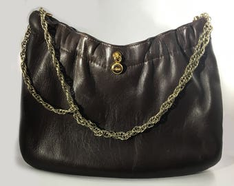Vintage Ande Brown Leather Clutch