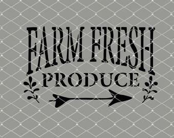 STENCIL Farm Fresh Produce 10x6