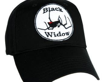 Black Widow Spider Hat Baseball Cap Alternative Clothing Horror - YDS-EMPA-013-CAP
