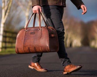 Travel Bag // Leather cabin bag  // Weekend bag // DE BRUIR