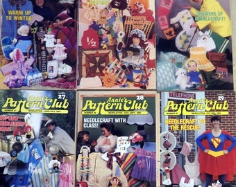 Annie's Pattern Club Newsletter Magazine Full year Dec.1983-Nov 1984  Crochet Dolls, Afghans, Baby,Toys, Sew Pillows, Frames, Clothes