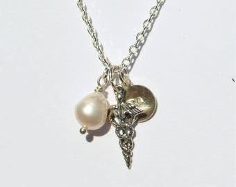 Nurse charm necklace