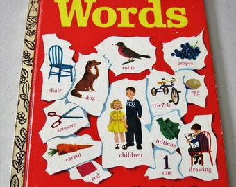 "Vintage ""Words"" Little Golden Book, Circa 1974, Thirty-Seventh Printing"