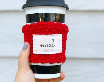 Noel coffee cup sleeve, Christian gifts,  Christmas gift, gift for bestfriend, coffee tumbler sleeve, Christian teacher gift for women