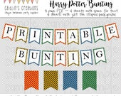 Create Your Own Bunting - Harry Potter Houses Printable Bunting - Bunting Template - Printable - DIY