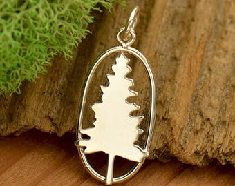 Sterling Silver Pine Tree Charm