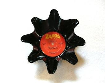 Frank Zappa Record Bowl Made From Vinyl Album