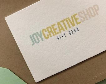 Joy Creative Shop Gift Card