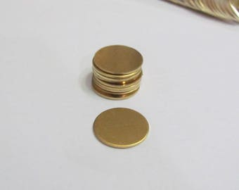 "3/4"" -Brass blank circles - 18G - hand stamping blanks -brass round blanks - stamping blanks - metal blanks"