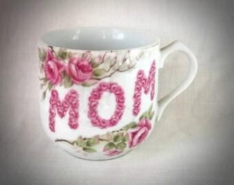Antique Cup/Mug for MOM, Roses - Lefton