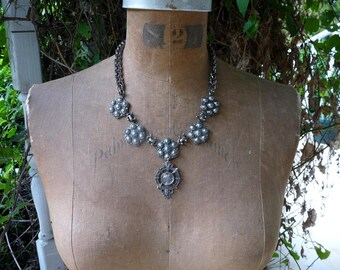 Vintage Antique French Warrioress Necklace, A Talisman for the Fierce & Passionate, by RusticGypsyCreations