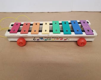 Vintage Xylophone Pull Toy