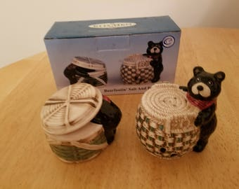 Vintage Bearfootin Salt and Pepper Shakers