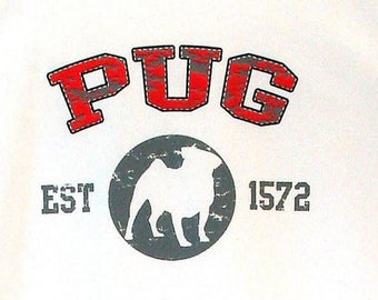 Womens TANK TOP Pug Dog Choose Size and Color 17428