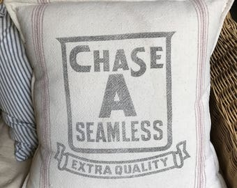 Grain Sack Pillow Cover Chase A Seamless by Gathered Comforts