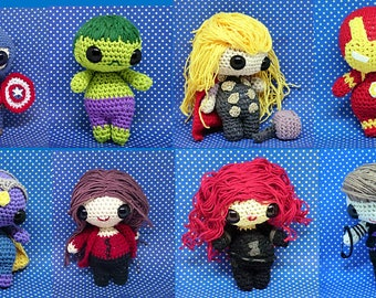 Avengers amigurumi style collectable doll -hand made to order