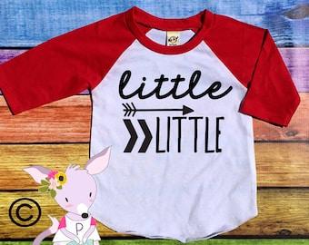 Sibling Arrow Shirt Raglan Big Little Middle Little Big Brother Baby Toddler Big Sister Shirt Big Bro Shirt Im the Big Brother Hipster
